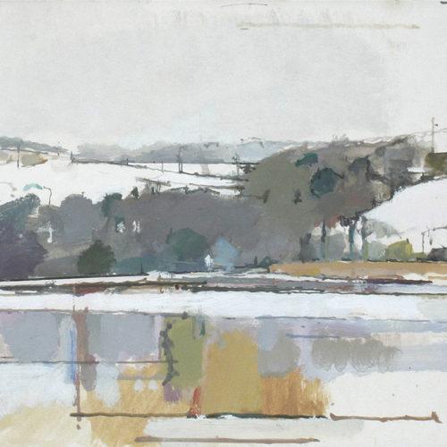 Devoran Creek Under Snow [ SOLD ]