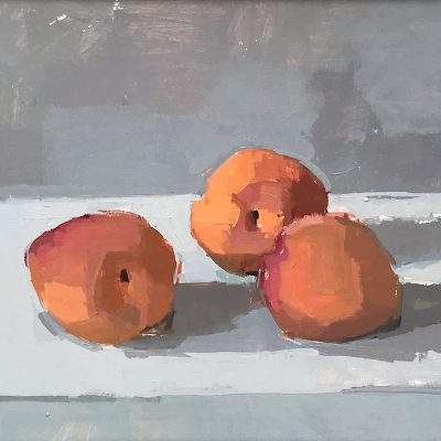 Sarah Spackman-Apricots-19x24cm