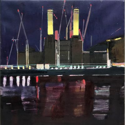 Daniel Preece-Powerstation at Night-III-60x45cm