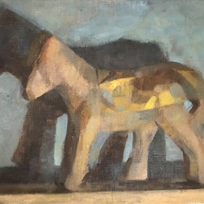 James Bland-Golden Horse-18x26cm