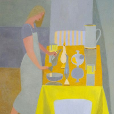 Mary Mabbutt-Another Yellow Table-110x88cm